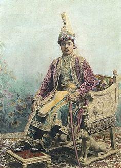 Maharaja Sir Bhagwati Prasad Singh of Balrampur, India.