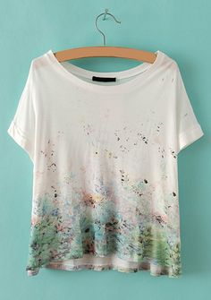 Color Gradient White T-shirt