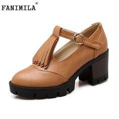 d7190a36e409 Women s Pumps · New arrival Autumn winter Shoes woman Ankle boots Female  fashion bootie Buckle High heel Platform Retro