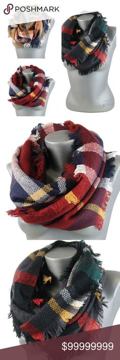 Checkered Scarf Bundle 2+ items for 10% discount price is firm Accessories Scarves & Wraps