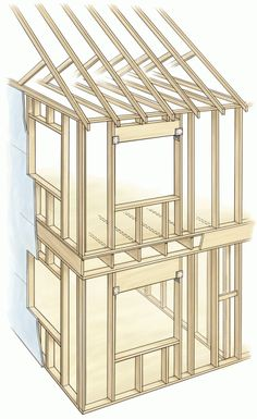 Save wood and weight by using Advanced Framing