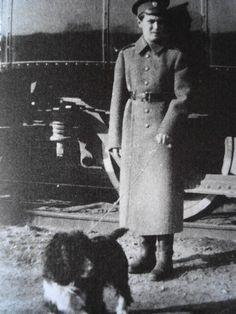 Alexei & Joy outside the Imperial Train, 1916