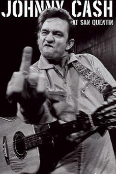 Johnny Cash- San Quentin (vertical) Poster - TshirtNow.net