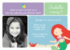 Items similar to Mermaid Ariel Photo Kids Birthday Party Invitations Swimming Summer Kids Birthday Party Invitations, Baby Shower Invitations, Birthday Cards, Birthday Parties, Little Mermaid Birthday, The Little Mermaid, Girl Birthday, Boy Girl Twins, Mermaid Photos