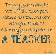 Really become a teacher !