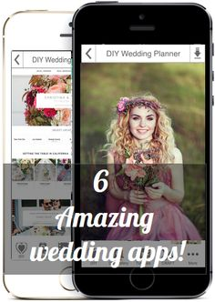 6 Amazing Wedding Apps you should have to plan your DIY wedding!  The DIY Wedding Planner apps provide convenient links to the best online wedding planning resources on all platforms including your Phone, Tablet and Computer!  We have done all of the work for you and gathered links to all of the best wedding resources in one spot! No more searching the internet! Work on your checklists, registry,find wedding vendors,craft tutorials and so much more. #weddingplanning