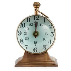 Check out this item at One Kings Lane! Brass Clock