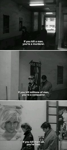 One of my favorite movies--Masculin Féminin / 1966 / Jean-Luc Godard Cinema Quotes, Film Quotes, Movies Showing, Movies And Tv Shows, Citations Film, French New Wave, Jean Luc Godard, Movie Lines, About Time Movie