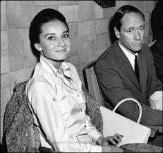 Audrey and her husband Mel Ferrer