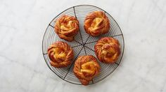 These buttery, jam-filled cinnamon rolls are an ideal way to use up leftover pastry from making Danish. Martha made this recipe on Martha Bakes episode 502.