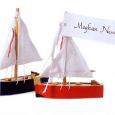 Wooden Sailboat for a beach or nautical wedding, bridal shower or babyshower. - Beach Front Occasions, www.beachfrontoccasions.com