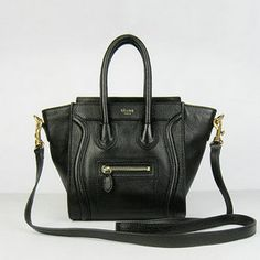 Celine Mini Face Calf Leather Tote Bag 1878 Black