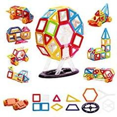 Magnetic Blocks 76PCS Magnetic Building Blocks Toy Set, Magnetic Tiles Kit Creative Educational Construction Stacking Gift Set for Toddler Kids Boys and Girls. *** Visit the image link more details. (This is an affiliate link) #StackingBlocks