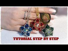 DIY tutorial gioiello double face a stella con perle e swarovski fai da te 1 beadwork