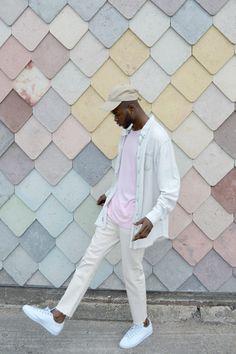 @ma.rques #UOMens | Urban Renewal Vintage Customised Bleach Raw Hem Denim Shirt