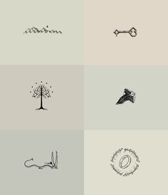 Tolkien minimalist drawings. REALLY want one or two of these on my body