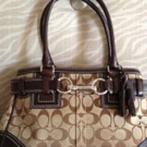 221fa4bce9af30 Authentic Coach Hampton handbag in khaki and by WARDROBEcloset Coach Outlet  Store