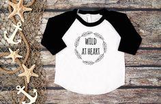 Wild at Heart TeeBoys Baseball TeeKid's by bravelittleleaders