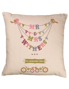 wedding-bunting-personalised-cushion-mr-mrs-birds-bride-groom