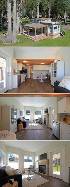 The Bellevue is one of the four West Coast Homes park model tiny houses available at Wildwood Lakefront Cottages, located along Lake Whatcom, WA.
