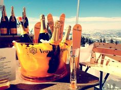 My Favorite ~ Veuve Clicquot and in the snow.... awesome!!!