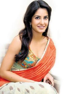 Latest Bollywood Orange Sarees Collection 2014 for Actress Looking Gorgeous  (5)