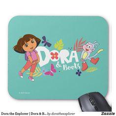 Dora the Explorer | Dora & Boots. Producto disponible en tienda Zazzle. Tecnología. Product available in Zazzle store. Technology. Regalos, Gifts. #Mousepads