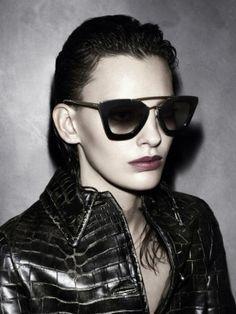 Prada CINEMA SPR09Q SPR 09Q SPR09QS Black Sunglasses Cat- Eye 1AB-0A7 Black