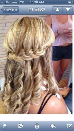 Waterfall braid by Chrissy Swink