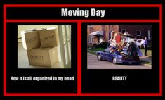 It's moving day! We've actually done ok this time! But still a few loose ends.