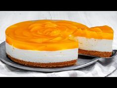 Cel mai gustos cheesecake FARA COACERE cu piersici! Un deliciu veritabil, nu exageram! - YouTube Cheesecake, No Cook Desserts, Cake Decorating, Biscuits, Food And Drink, Sweets, Baking, Decorating Cakes, Sweet And Saltines