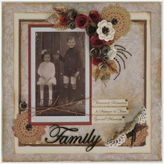 Family - This is my favourite photo of my grandmother when she was a child and her brother. Vintage Scrapbook, Scrapbook Albums, Scrapbooking Layouts, Fancy Fold Cards, Folded Cards, Spectrum Noir Markers, A Moment In Time, Distress Oxide Ink