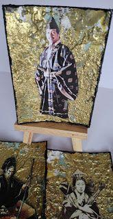 katky: Atc-výmena na artgrupaatc Téma: Ázia Výzvu zadala. Atc, Painting, Painting Art, Paintings, Paint, Draw
