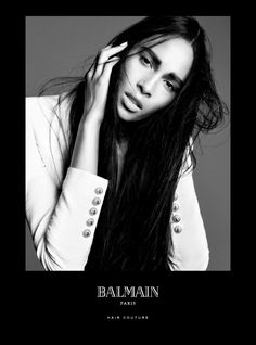Balmain Paris Hair Couture presents the Spring/Summer 2016 Campaign starring Balmain muses Noémie Lenoir, Cindy Bruna and Devon Windsor.  Cindy Bruna: Unlimited Length Any fantasy or eccentric idea about having long hair is entirely within reach. Balmain Hair offers all the possibilities to create length with an impressive line of highly fashionable hair additions, hair extensions and application techniques.