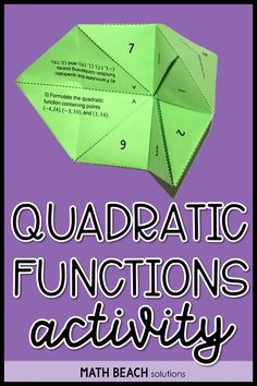 Practice skills related to formulating quadratic functions from 3 points and converting standard form to vertex form with this twist on a childhood favorite! Algebra 2 Activities, Algebra 2 Worksheets, Simplifying Algebraic Expressions, Standard Form, Secondary Math, Teaching Writing, Teacher Resources, Lesson Plans, Childhood