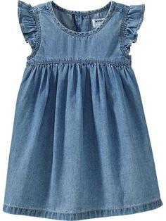 Resultado de imagen para vestidos de jean para bebe