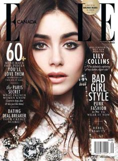 Lilly Collins looks gorgeous on the cover of ELLE magazine