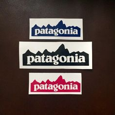 7ecc1392d7b3e 1x Patagonia Logo Inspired Vinyl Mountain Decal   Sticker - Waterproof