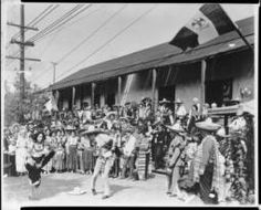 Mexican Hat Dance in front of the Casa de Avila on Olvera Street, Los Angeles, ca.1920 :: California Historical Society Collection, 1860-1960