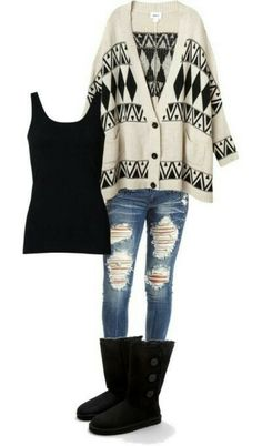 Chunky sweater outfit! Minus those ugly boots.