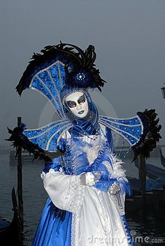 Night Venice Carnival Masks   Venice Carnival In Italy Royalty Free Stock Images - Image: 4269759