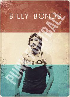 Billy Bonds Vintage Poster (West Ham United)