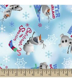 Holiday Inspirations™ Christmas Fabric-Frozen Olaf Winter Wonderland