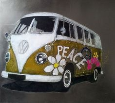 Peace and Love by Jonathan Aiken For Sale Oil on metal www. Peace And Love, Van, Metal, Vans, Vans Outfit
