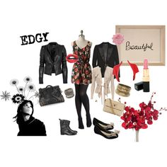 edgy girly fashion | fashion look from November 2010 featuring Fever cardigans, A.L.C ...