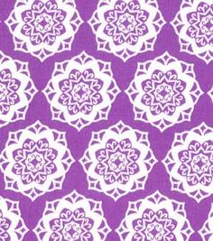 Quilter's Showcase Cotton Fabric-Medallion Amethyst/White
