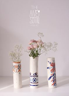 preview of The Awesome Project spring series: porcelain vases