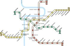 Prague Metro map shows the 3 lines (A, B and C) which serve the city. Maps of Prague supplied by Prague Experience - the Prague Tourist Information and Travel Guide Metro Map, Prague Travel, Tourist Information, Study Abroad, Public Transport, Places Around The World, Czech Republic, Travel Around, Travel Guide