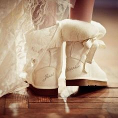 """Winter Wedding--""""Just Married"""" Morning After Uggs"""