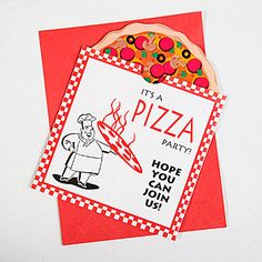 Pizza Pool Collage Print Pizza Party Party Invitations And Pizzas - Childrens birthday parties pizza hut